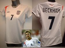 Ladies Girls ENGLAND BECKHAM Multiple Sizes Football Soccer Shirt Jersey UMBRO