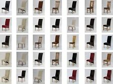 Solid Oak Furniture Quality Leather Oak Legs Dining Chairs