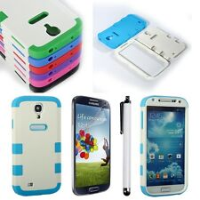4in1 Hybrid Shockproof Rugged Cover Case For Samsung Galaxy S4 SIV i9500 + Film