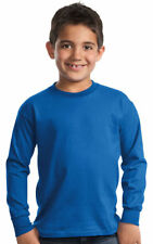 Port & Company Boys Long Sleeve Cotton Essential Rib Knit T-Shirt. PC61YLS