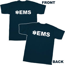 EMS T-SHIRT Emergency Medical Services Tee NAVY Style 2