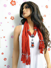 New Fashion Jewelry Scarf Shawl Wrap With Big Owl Pendent (10 Colors)  Style#101