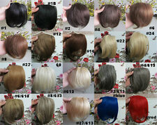 "New 8"" Clips On Front Neat Bang Fringe Hair Extensions More Colors"