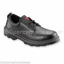 PSF 524SM Work Safety Water Resistant Black Leather Shoes Steel Toe Cap Sole New