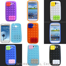 3D Removable Lego Toy Brick Block Silicon TPU Soft Gel Case for Galaxy S 3 i9300