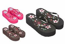 Ladies Summer Platform Wedge Beach Flip Flop Sandals Size 3 to 8 UK Style EH4630