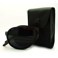 Mens Folding Collapsible Aviator Sunglasses with Belt Carrying Case