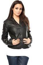LADIES WOMAN LEATHER JACKET S M L XL BOMBER BLAZER RETRO COAT SUIT BIKER TOP VTG
