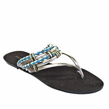 Chinese Laundry Womens Flat Turquoise Sandals  Size 3-8