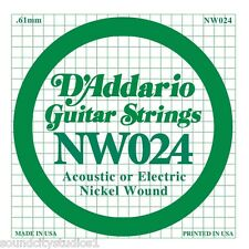 D'Addario Nickel Wound Electric Single Guitar Strings 5 Count Pack