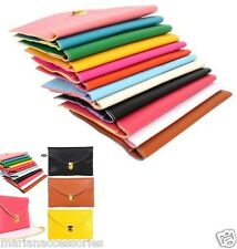 Large Trendy Envelope Clutch Shoulder Bag with strap available in Multi Colours