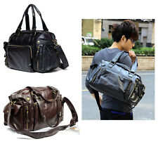 Fashion Men's Gym Duffle Satchel Shoulder Travel Bag PU Leather Tote Handbag