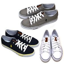 Polo Ralph Lauren Cantor Low Mens Shoes Casual Sneaker Canvas New Sz 12 Blue