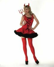 Ladies Womens Sexy Red Devil Fancy Dress Costume Outfit Halloween Kinky UK 8-16