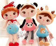 newest arrival metoo creative cute girl doll plush toy birthday gift 50cm 1pc