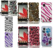 For LG Optimus G LS970 Animal Print Diamond Bling Hard Snap On Cover Case