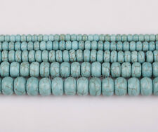 Synthetic Turquoise Gemstone Rondelle Spacer Beads 16'' Various size you pick