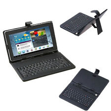 """For 7"""" 8"""" 10"""" Android Tablet PC Leather Stand Cover USB Keyboard Stylus Pen"""
