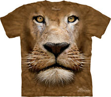 The Mountain Lion Face Adult T-Shirt PRINT IN USA MT50