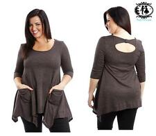 LADIES PLUS SIZE 16-32 CASUAL TUNIC TOP BLOUSE WORK SMART DRESS SKATER T-SHIRT