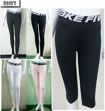 Female Women Compression Tight Leggigs Under Base Layer Pants Shorts Running fit