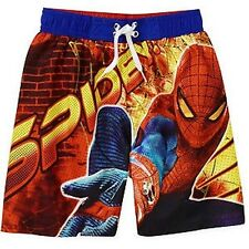 AMAZING SPIDER-MAN MARVEL HERO Bathing Suit Swim Trunks NEW Boys Size 4-7  $25