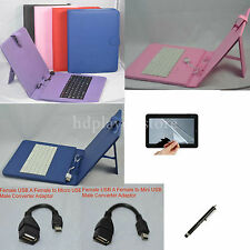 "Colorful Keyboard Case+Film+Stylus For 9.7"" Mach Speed Trio Stealth Pro Tablet"