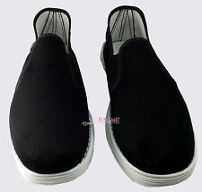 Men Chinese Kung Fu Martial Arts Ninja Shoes Slip On Cotton Sole Canvas Slippers