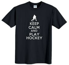 Keep Calm And Play Hockey Child T-Shirt Funny Humor Youth Tee