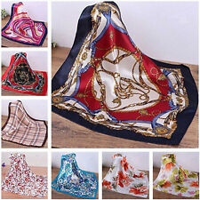 Fashion Lady Silk Satin Square Leopard Dot Head Neck Scarf Wrap Tie Neckerchief