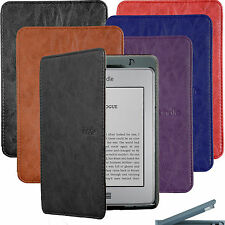 "BUILT IN LED LIGHT ULTRA SLIM LEATHER CASE COVER FOR KINDLE TOUCH gen 6"" WiF 3G"