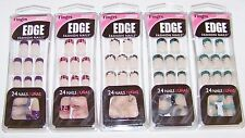 Fing'rs Edge French Tip Glue-On Fashion Nails Stars Zebra Crackle Stars 24 Pack