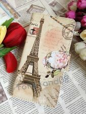 Retro Flower Eiffel Leather Case for Apple Samsung HTC Sony Motorola Nokia Cover