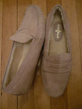 NEW: COLE HAAN Air Sadie Suede/Shearling Driving Loafers in Tan, 10 & 11