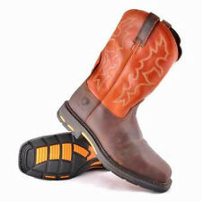 Men's Ariat 10006961 Hog Square Toe Leather Work and Safety Brown Steel Toe