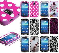 For Samsung Galaxy S4 Active i537 Multi Designs Duo Layer Hybrid Hard Cover Case