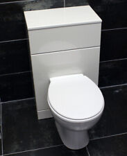 White 500mm Bathroom WC Vanity Unit with Optional Back to Wall Pan and Cistern