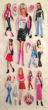 Puffy Barbie Cartoon Stickers for Card Making Scrapbooking and Crafts