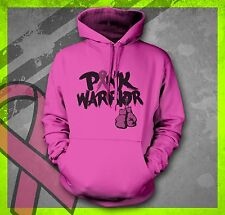 PINK WARRIOR BREAST CANCER AWARENESS FIGHT LIKE A GIRL HOPE BELIEVE HOODIE HOODY