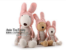 plush toy doll bunny le sucre rabbit stripe clothes pink cap birthday gift 1pc