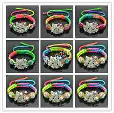 WHOLESALE Little Girls MULTI STRING SHAMBALLA HELLO KITTY STYLE BRACELETS