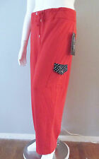 NWT ONQUE Woman RED SWEAT PANT Leg POCKET Size 1X  2X 3X Lounge Track Pant $42