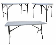 6ft OR 4ft FOLDING BANQUETING CAMPING PICNIC CATERING MARKET PARTY OUTDOOR TABLE