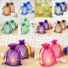 25/50/100X 16Colors Organza Jewelry Packing Pouch Wedding Favor Gift Bags 12x9cm