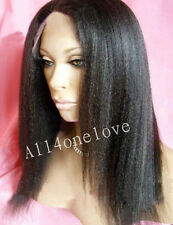 varity of kinky straight indian remy human hair lace front wig baby hair around