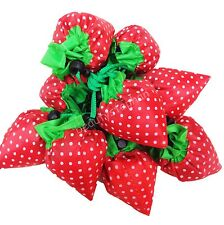 New Strawberry Shopping Tote Eco Friendly Reusable Bag Compact Foldable Handbags