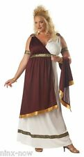 PLUS SIZE Roman Empress Toga Women's fancy dress costume deluxe size 2XL or 3XL