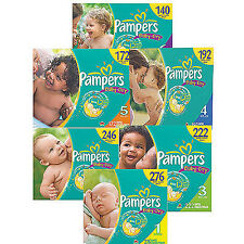 Pampers Baby Dry Diapers Size Newborn, 1, 2, 3, 4, 5, 6 CHEAP!!!