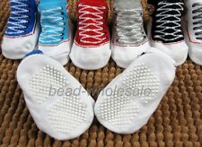 New Born Baby Infant Soft Canvas Style Anti-skidding Socks with 7 Colors