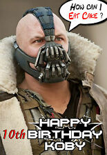 ART Bane batman inspired SPOOF funny PERSONNALISED HAPPY BIRTHDAY Greeting CARD